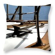 Boat Anchor Throw Pillow