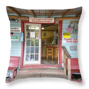 Boat And Bait Shop At Caddo Lake 1 Throw Pillow