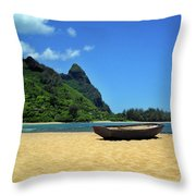Boat And Bali Hai Throw Pillow