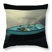 Boat Throw Pillow by Artistic Panda