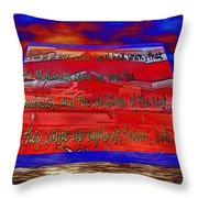 Boat As Art With Text Throw Pillow