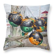 Boat Bumpers Throw Pillow