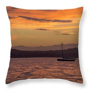 Boat By Holywood Throw Pillow