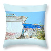 Old Boats Hugging And Kissing Forever  Throw Pillow