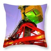 Boat Crane Throw Pillow