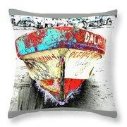 Boat Dalia, Puerta Vallarta, Mexico Throw Pillow