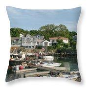 Boat Dock Throw Pillow