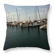 Boat Harbour  Throw Pillow