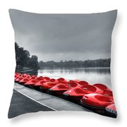 Boat Hire Throw Pillow