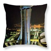 Boat Hotel From The Flyer Throw Pillow