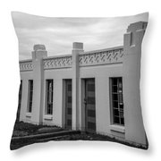 Boat House At White Rock Lake Throw Pillow