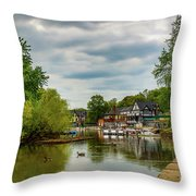 Boat House Row Two Throw Pillow
