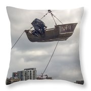 Boat In The Air Throw Pillow