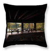 Boat In The Distance Throw Pillow