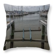 Boat Lift Throw Pillow