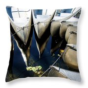 Boat Load Of Reflections Throw Pillow