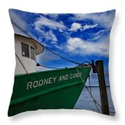 Boat Love In Apalachicola Throw Pillow