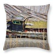 Boat N Buoys Throw Pillow