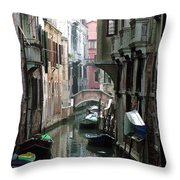 Boat On The Wall Throw Pillow