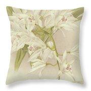 Boat Orchid  Cymbidium Throw Pillow