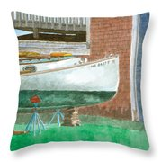 Boat Out Of Water - Portland Maine Throw Pillow