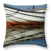 Boat Reflected Throw Pillow