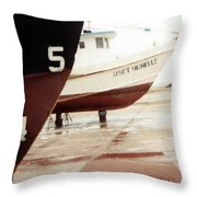 Boat Reflection 2 Throw Pillow