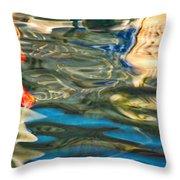 Boat Reflections - Hvar Croatia Throw Pillow