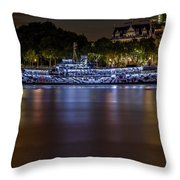 Boat Restaurant  Throw Pillow