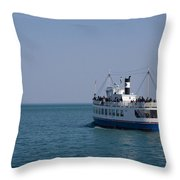 Boat Ride Throw Pillow