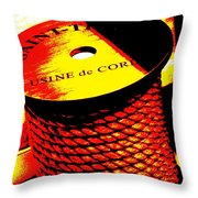 Boat Rope Throw Pillow