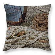 Boat Ropes Throw Pillow
