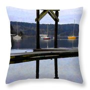 Boat Series #4 Throw Pillow