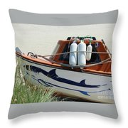 Boat Shark Decoration Donegal Throw Pillow