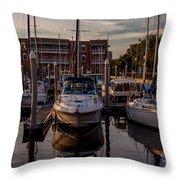 Boat Slip Throw Pillow