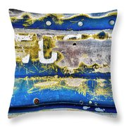 Boat Texture 01, 2017.03.21 Throw Pillow