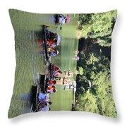 Boat Tours Tam Coc Vietnam  Throw Pillow