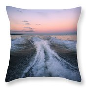 Boat Waves Throw Pillow