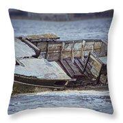 Boat Wreck Throw Pillow