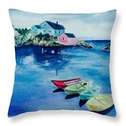 Boaters Paradise Throw Pillow