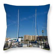 Boater's Paradise Throw Pillow by Michael Tesar
