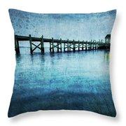 Boathouse Blue Throw Pillow