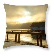 Boathouse Daybreak Throw Pillow