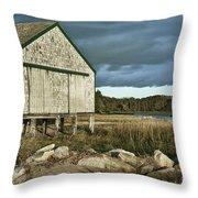 Boathouse Throw Pillow by John Greim