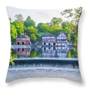 Boathouse Row - Framed In Spring Throw Pillow
