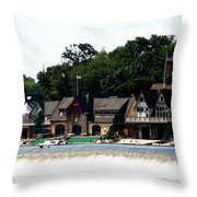 Boathouse Row Philadelphia Throw Pillow