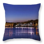 Boathouse Row Philly Throw Pillow