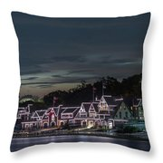 Boathouse Row Philly Pa Night Throw Pillow