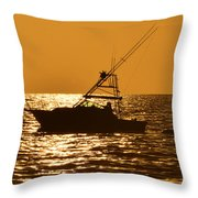 Boating And Fishing Throw Pillow
