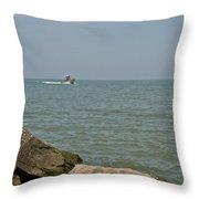 Boating Fun Throw Pillow